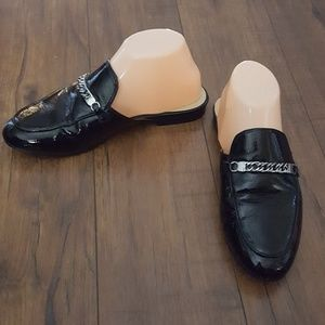 Marc Fisher - Black Patent Wiley Mules